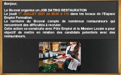 Job dating restauration